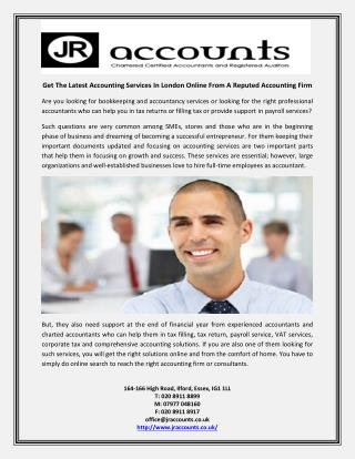 Get The Latest Accounting Services In London Online From A Reputed Accounting Firm