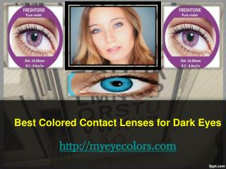 Colored Contact Lenses Non Prescription