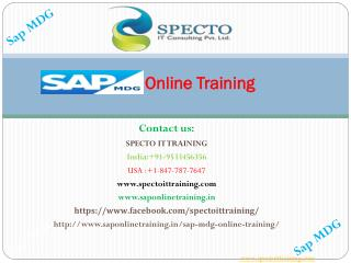 sap mdg online training in usa