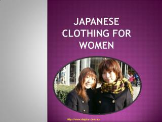 Japanese Clothing For Women