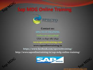 sap mdg online training in uk