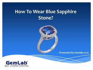 How to wear blue sapphire gemstone