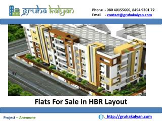Flats For Sale in HBR Layout
