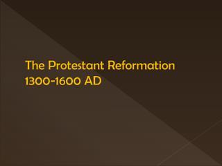 Mayer - World History - Protestant Reformation