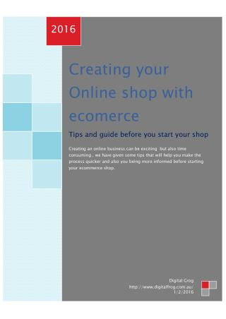 Best ecommerce solutions 2016