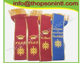 Masonic Order of The Secret Monitor District Grant Officer sash
