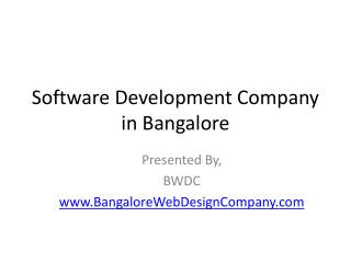 software development company in Bangalore