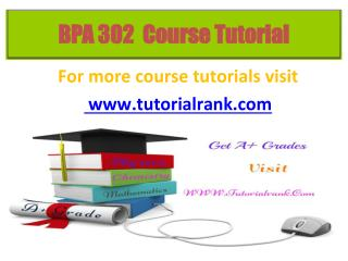 BPA 302 Potential Instructors / tutorialrank.com