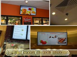 digital menu boards in Boston