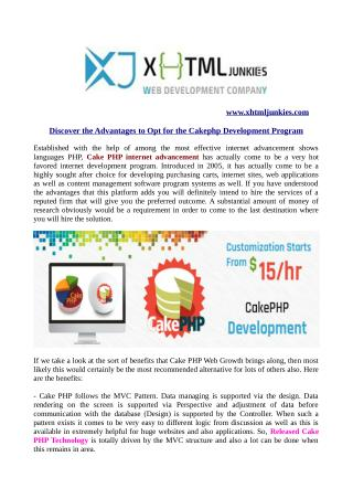 Discover the advantages to opt for the cakephp development program
