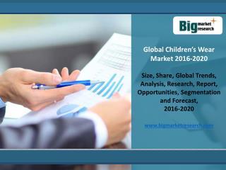 Global Children�s Wear Market 2016 Market Research Report