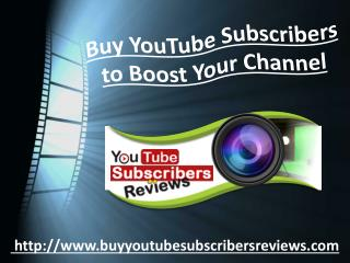 Purchase YouTube Subscribers � Boost Your Ranking on YouTube