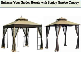 Enhance Your Garden Beauty with Sunjoy Gazebo Canopy