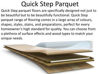 Quick Step Parquet Product & Designs