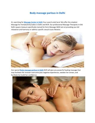 Best Female body massage in Delhi/Noida