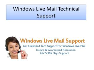 Windows Live Mail Technical Support