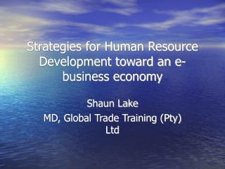 Strategies for Human Resource Development toward an e-business economy