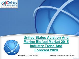 2015 United States Aviation And Marine Biofuel Market Key Manufacturers Analysis