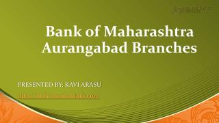 Bank of Maharashtra branches in Aurangabad