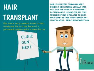 Hair Transplant Clinic In Delhi - Clinic Gen Next