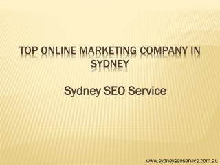 Top Online Marketing Company in Sydney