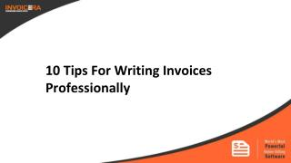 10 Tips To Write An Invoice Professionally