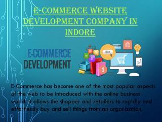 E-commerce website development company in Indore
