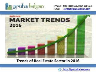 Trends of Real Estate Sector in 2016