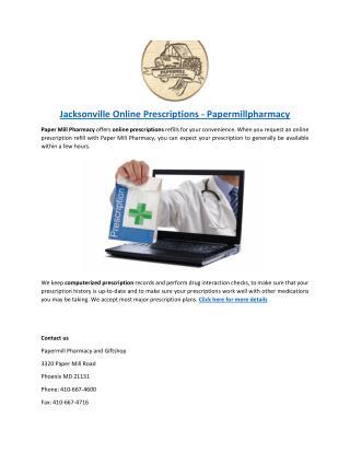 Jacksonville-Online-Prescriptions-Papermillpharmacy
