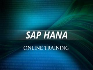 Better SAP HANA Online Training | SAP HANA Course Online