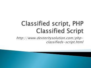 Classified Script, Classified PHP script