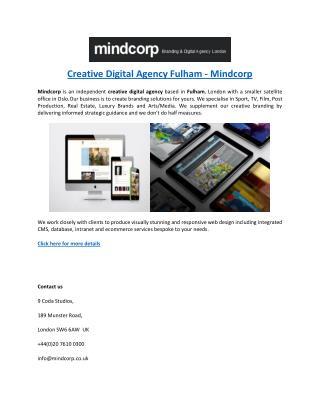 Creative Digital Agency Fulham - Mindcorp