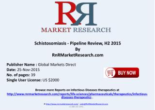 Schistosomiasis Pipeline Review H2 2015