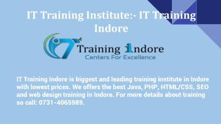 IT Training Institute- IT Training Indore