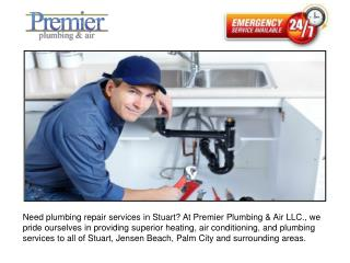 Plumbing Contractor Services in Stuart