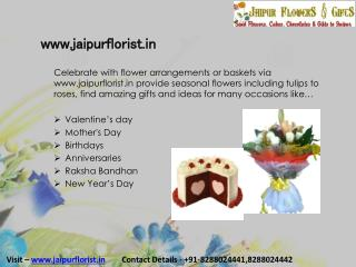Send Online Flowers & gifts to Jaipur