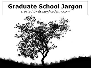Graduate School Jargon