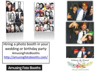 Hiring a photo booth in your wedding or birthday party