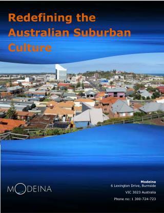 Redefining the Australian Suburban Culture