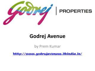 Godrej Avenues Luxury Apartments Yelahanka Bangalore