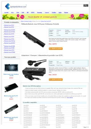 Batterie Asus X53S Acheter