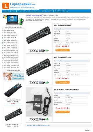 Akku Dell XPS L501X Kaufen
