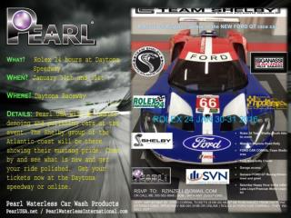 Daytona raceway event with pearl Waterless products