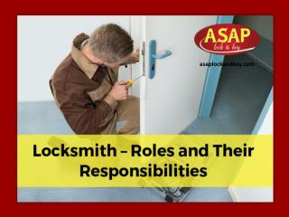 Locksmiths - What Does They Do?