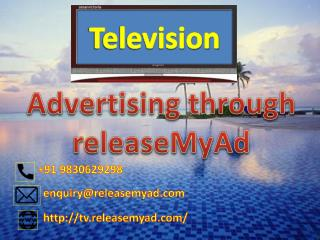 Book Television Advertisements Online through releaseMyAd.