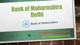Bank of Maharashtra branches in Delhi