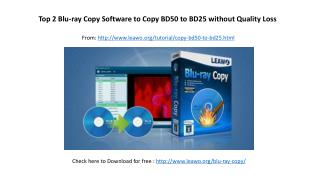 Top 2 blu ray copy software to copy bd50 to bd25 without quality loss