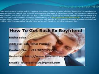 Some Common Ways Of How To Get Back Ex Boyfriend