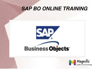 Sap BO Online Training in Australia