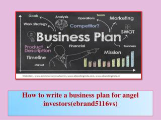 How to write a business plan for angel investors